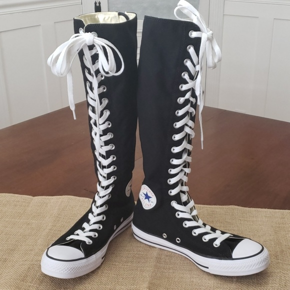 Converse Chuck Taylor Tall Black Knee High Tops